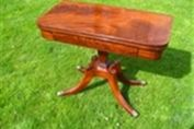 A REGENCY MAHOGANY CARD TABLE c1830