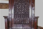 Oak Gothic Throne Circa 1450 - 1500