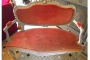 WONDERFUL ANTIQUE FRENCH LOUIS XV PAINTED  CARVED SOFA / CANAPE - 19th CENTURY