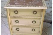 SUPERB ANTIQUE FRENCH LOUIS XVI STYLE BEDSIDE TABLE