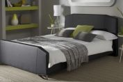 Ziggy Black Faux Leather Bed Frame