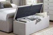 Ottomans > Lucia Storage Chest - Grey Fabric