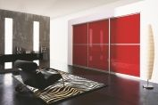 Red sliding doors system