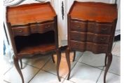 VERY GOOD QUALITY PAIR OF VINTAGE FRENCH BEDSIDE TABLES