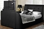 Galaxy Faux Leather TV Bed Frame