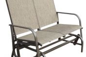 Sorrento Two Seat Glider Bench - Brown