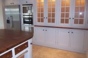 Bespoke hand built kitchen painted in an eggshell finish