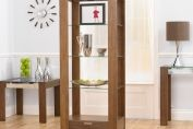 Bookcases > CANNES GLASS & WALNUT DISPLAY UNIT