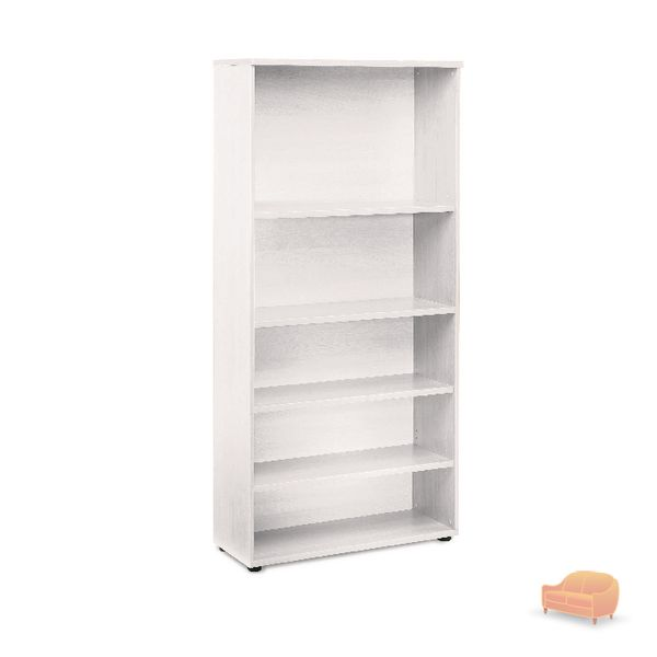 Jemini White 1800mm Bookcase 4 Shelves