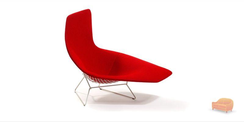 Retrospec for Bertoia asymmetric chaise