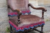 A Circa 1700 Walnut Upholstered Chair