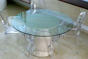 GLASS TOPPED SHEATH TABLE