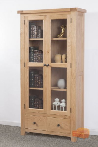 cortona reclaimed pine corner display cabinet