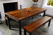 Metro Steel And Reclaimed Table