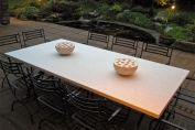 10 Seat Limestone Table