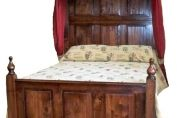 Fully Panelled Half Tester Bed