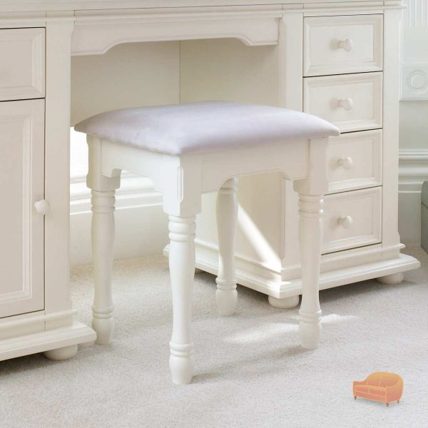 Very Best Ravenna Dressing Table Stool in Stone White 600 x 600 · 37 kB · jpeg