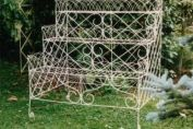 Stunning three tier wrought iron and wire flower