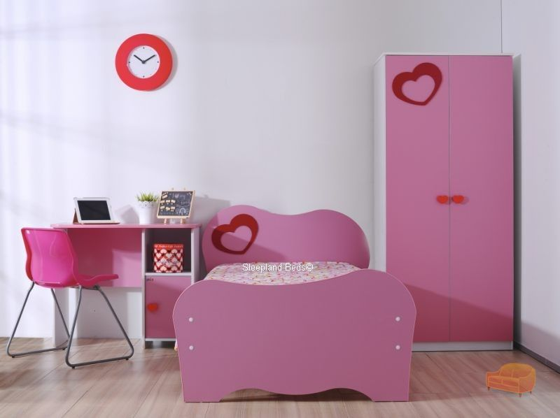 pink childrens bedroom furniture. pink heart amelia childrens bedroom furniture and bed frame set u