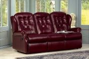 Sherborne - Lynton Small Manual/Powered Reclining 3-Seater Settee