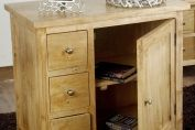 Groove Oak Shade Solid Mango Wood Small Sideboard with Drawers and Adjustable Shelf