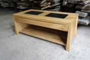 Oak and Granite Coffee Table