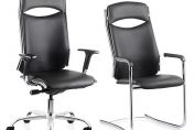 Linea Black Leather Executive Chair