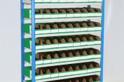 Small Parts Storage Bays with Bins