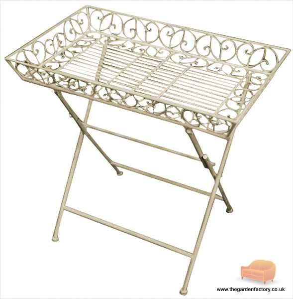 The garden factory for Antique cream coffee table