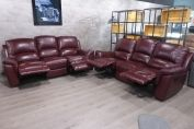 VIOLINO HIGH GRADE FULL LEATHER 3 & 3 SEATER- MANUAL RECLINERS