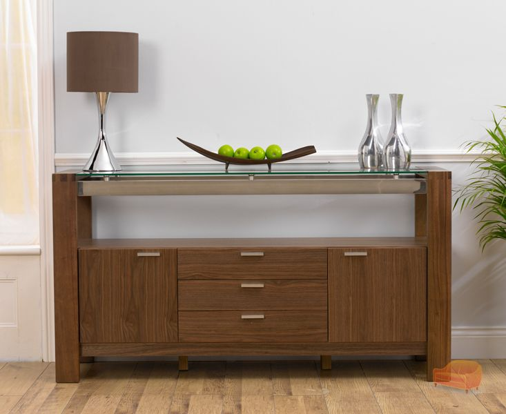 CANNES GLASS   WALNUT 160CM SIDEBOARD ba9cdf560