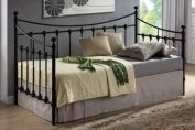 Time Living Florida 3ft Single Black Metal Daybed