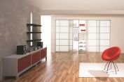Large white sliding doors system