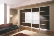 White brown sliding doors system