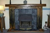 Skelton fire surround in Dark french oak