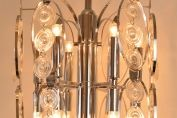 ITALIAN OPTICAL GLASS CHANDELIER