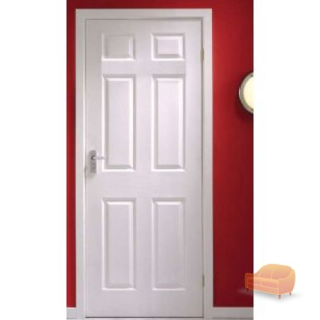 White six panel internal door
