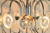 1970s ITALIAN SPHERICAL CAGE CHANDELIER