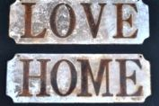 Antique style metal name plaques