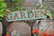 Garden metal plaque