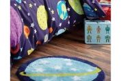 Outer Space Bedroom Rug, Multi