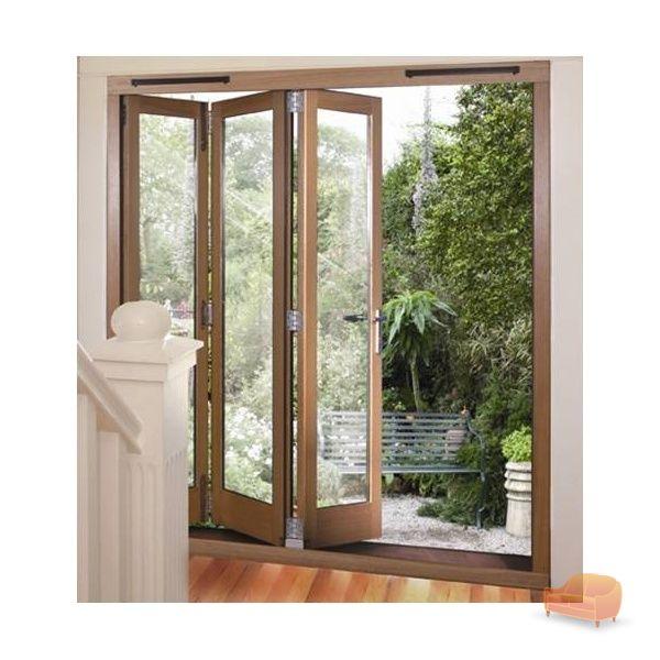 Sliding folding bi fold doors for Retractable sliding door