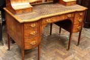 Satinwood inlaid desk