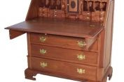 George III Style Large Mahogany Drop Leaf Bureau