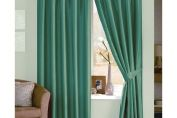 Java Faux Silk Lined Pencil Pleat Curtain, Pair , 167cm x 137cm, Teal