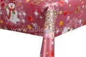 Jolly Santa Red Christmas Vinyl Table Cover